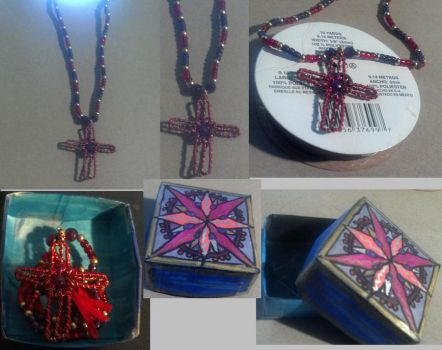 Cross Necklace and Gift Box by Moongara