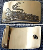 Post Apocalyptic brass belt buckle Fallout by TimforShade