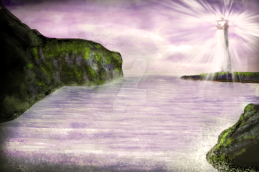 Digi Paintings #4 :The Lonely Lighthouse by greatyu