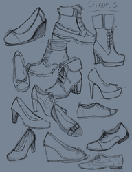 Shoes Doodles  01 by SajoPhoe