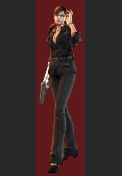 XPS - Mercenaries 3D - Claire ALT - Fully Poseable by henryque999