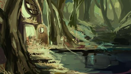 Ogre swamp by Razzleluff