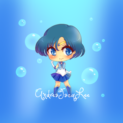 Sailor Mercury Sticker by Kairui-chan