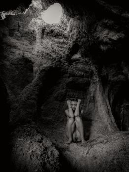 lost and naked in the cave by MarcBergmann