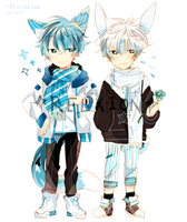 [SetPrice] LineHeart Blue Set 11#-12# : Closed by Relxion-kun