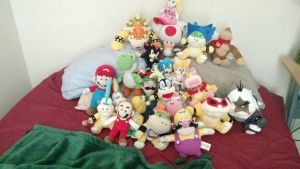 current collection of plushies 2018 by SuperMario2467