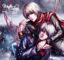 Winter_Sleep__Russia_x_Prussia by cyan-fox