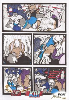 Lynx_Vs_Canine_Comic Comission_Mar2017_PG08 by AlexBaxtheDarkSide