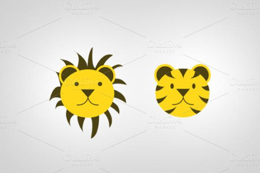 Lion and Tiger PSD by SkipSoft