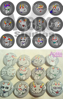 homestuck kitty parody buttons by AceroTiburon