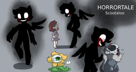 Horrortale Scootaloo Doodles by synnibear03
