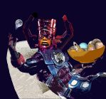 Galactus Snacking on Planets by EJTangonan