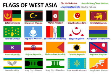 Alternate History Project: Flags of West Asia by Void-Wolf