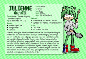 Character Info Sheet: Julienne by CheVD