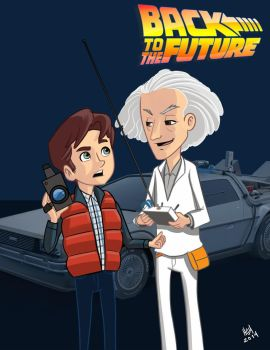 Backback to the future fan art by 7thorserider