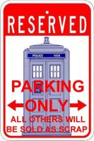 TARDIS Parking Only by Carthoris