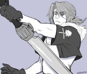 Ponytail Squall / Leon Justice [sketch] by rinoaart