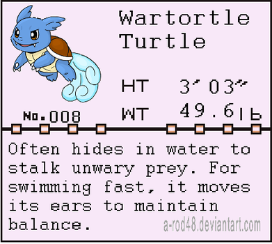 Pokedex entry 008 by a-rod48