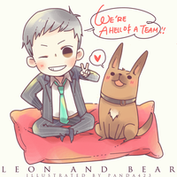 [person of interest] Leon and Bear by panda423