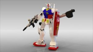 Plastic rendered RX-78 by Troopermanaic