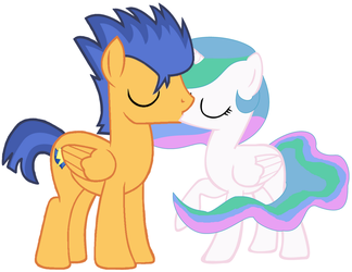 Flash Sentry And Celestia Kissing by 3D4D