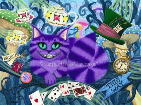 Cheshire Cat by tigerpixieart