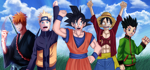 Shonen Heroes Collab by xTheMagicianx