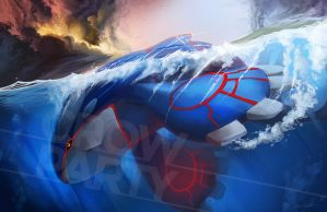 Kyogre by CrowParty