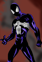 Symbiote SpiderMan (Secret Wars-Ultimate tribute) by Soyelmejor999