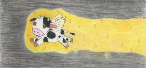 Airborne Bioluminescent Cow by Fishyness