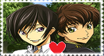 Lelouch X Suzaku Stamp by AGirlFromDistrict3