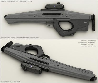 A4F - concept of sci-fi rifle by peterku