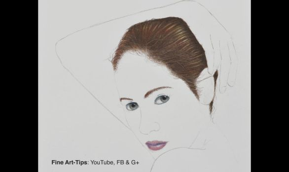 How to Draw Hair With Color Pencils - Narrated by ArtistLeonardo