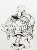 Papyrus and Frisk by Savage-Mojo