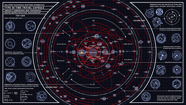 TARDIS Type 40  Dimensional Map Schematic  by Time-Lord-Rassilon
