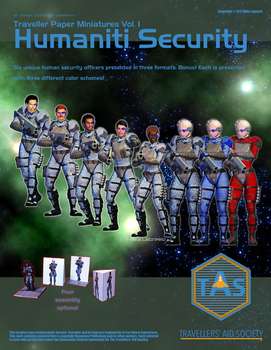Traveller Paper Miniatures Vol 1 Humaniti Security by MADMANMIKE