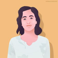 Vector portrait by firmacomdesign