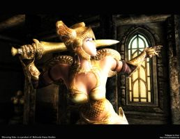 Oblivion Wallpaper Gold by Oessi