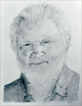 Shaver Graphite Portrait Drawing by Sonya Bull Art