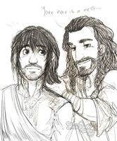 Heart of Erebor: You're A Mess, Kili by ToastyToastie
