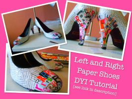 DYI Paper Shoes by quincyfangirl