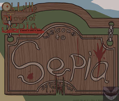 Oh, Little Town of Sepia Title by BingFox