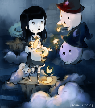 Stealing The Moon. Maplestory by Pochi-mochi
