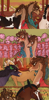 Newt and Cricket, Flower Festival by kaiuhh