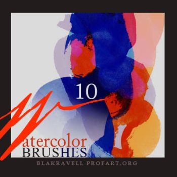 Watercolor brushes Set 8 by Blakravell