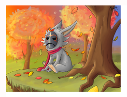 Loki in Autumn- contest ent- by Mr-Primary