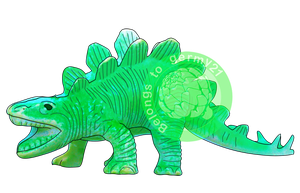 Stegosaurus Toy (Available on RedBubble) by PinkGermy