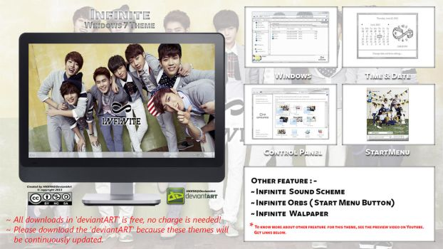 [2013 Theme] Infinite Kpop for Windows 7 by HKK98