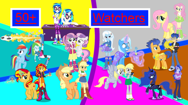 50+Watchers Wallpaper by EmoshyVinyl