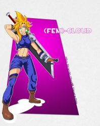 COM: FFVII Fem Cloud by Gx3RComics